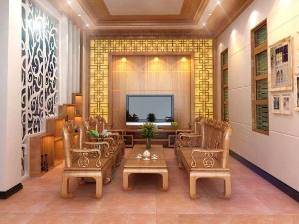 Phòng khách thiết kế bằng gỗ hiện đại Phối cảnh 5