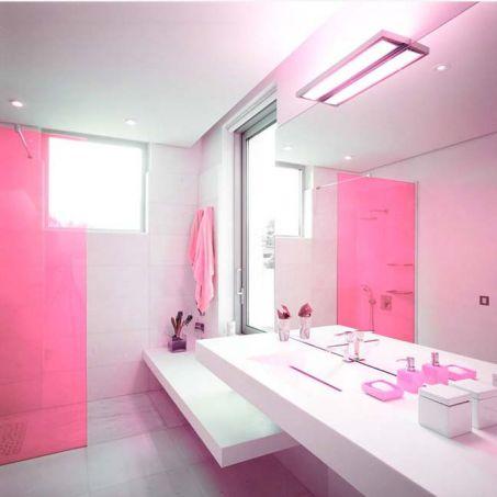 Mẫu phòng tắm đẹp với gam màu hồng | Thiết kế 2