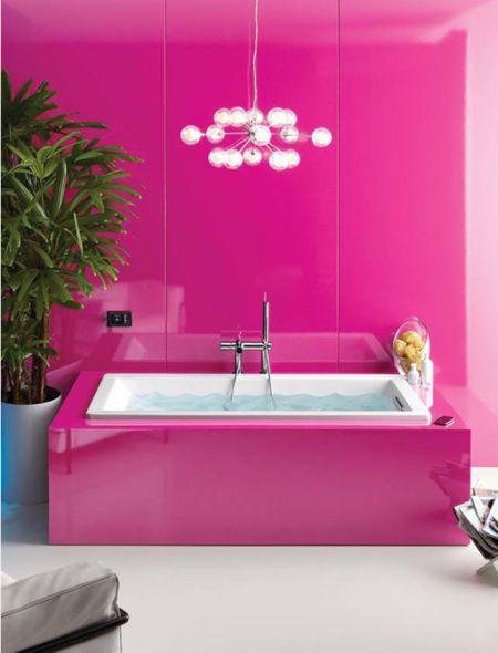 Mẫu phòng tắm đẹp với gam màu hồng | Thiết kế 5