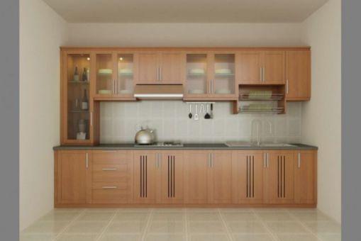 Thiết kế mẫu tủ bếp hình chữ i đẹp hiện đại sang trọng H1