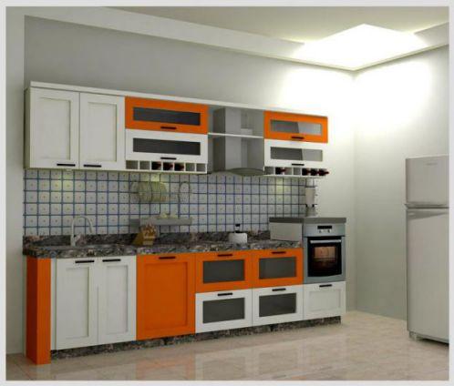 Thiết kế mẫu tủ bếp hình chữ i đẹp hiện đại sang trọng H10