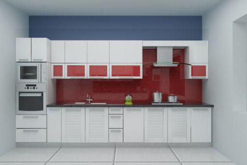 Thiết kế mẫu tủ bếp hình chữ i đẹp hiện đại sang trọng H12
