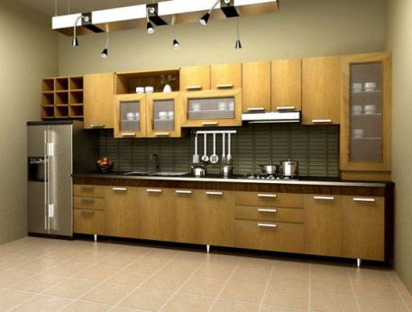 Thiết kế mẫu tủ bếp hình chữ i đẹp hiện đại sang trọng H13