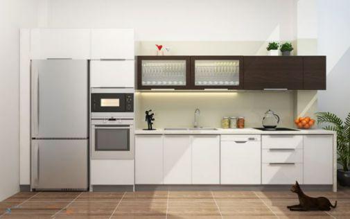 Thiết kế mẫu tủ bếp hình chữ i đẹp hiện đại sang trọng H15