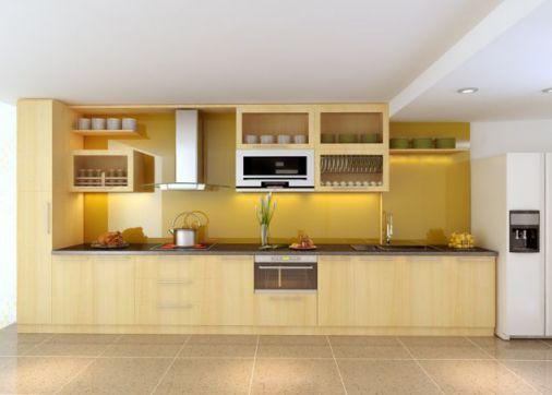 Thiết kế mẫu tủ bếp hình chữ i đẹp hiện đại sang trọng H2