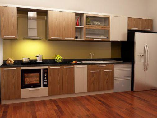 Thiết kế mẫu tủ bếp hình chữ i đẹp hiện đại sang trọng H3