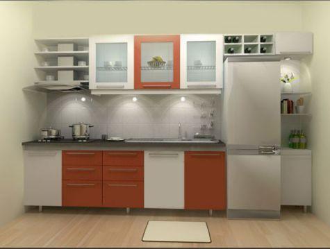 Thiết kế mẫu tủ bếp hình chữ i đẹp hiện đại sang trọng H6