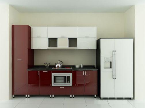 Thiết kế mẫu tủ bếp hình chữ i đẹp hiện đại sang trọng H7