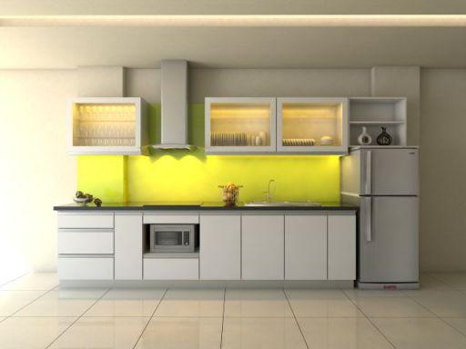 Thiết kế mẫu tủ bếp hình chữ i đẹp hiện đại sang trọng H8