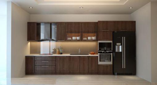 Thiết kế mẫu tủ bếp hình chữ i đẹp hiện đại sang trọng H9