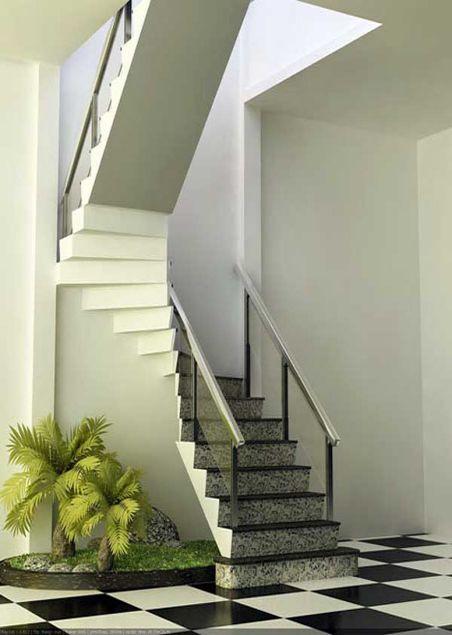 Mẫu cầu thang đẹp giá rẻ - Thiết kế 6