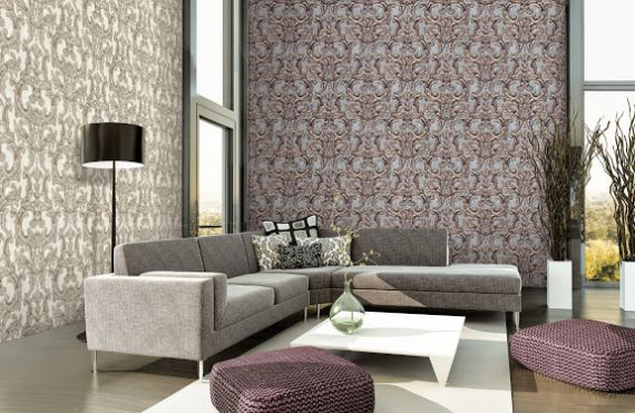 Mẫu giấy gian tường phòng khách đẹp - Thiết kế 3