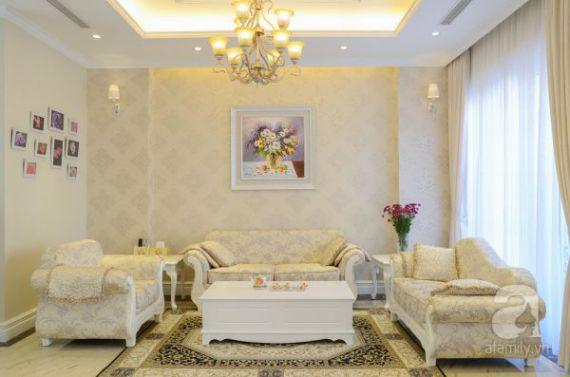 Mẫu giấy gian tường phòng khách đẹp - Thiết kế 4