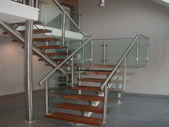 Cầu thang inox hiện đại H3