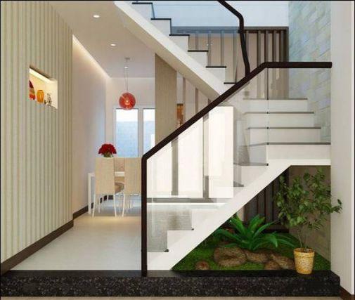 mẫu cầu thang nhà ống đẹp hiện đại H8