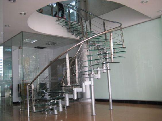 Cầu thang inox hiện đại H4
