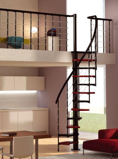 Mẫu cầu thang tiết kiệm diện tích cho gia đình - Thiết kế 5