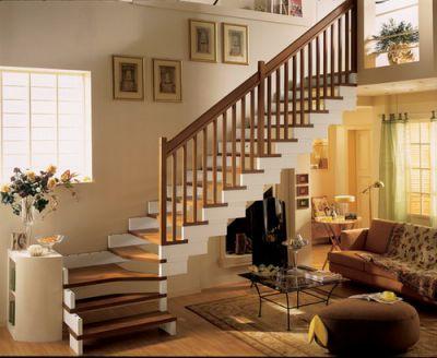 Mẫu cầu thang tiết kiệm diện tích cho gia đình - Thiết kế 3