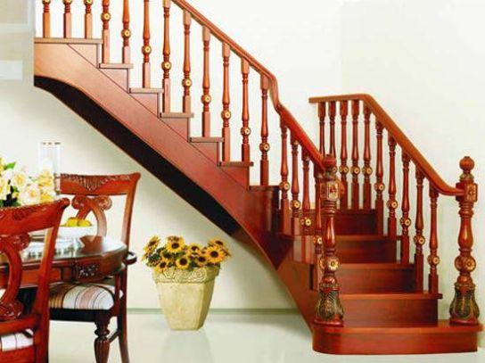 Mẫu cầu thang gỗ đẹp hiện đại H4
