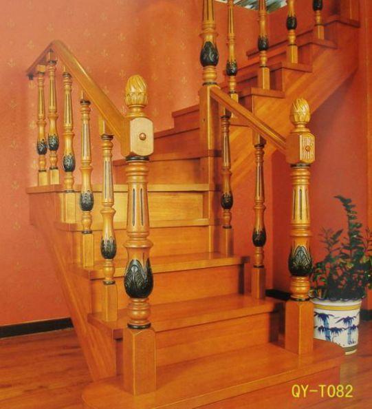 Mẫu cầu thang gỗ đẹp hiện đại H6