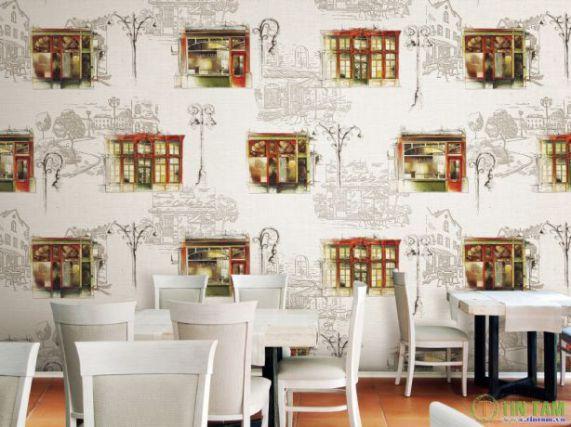 Mẫu giấy gian tường phòng khách đẹp - Thiết kế 10
