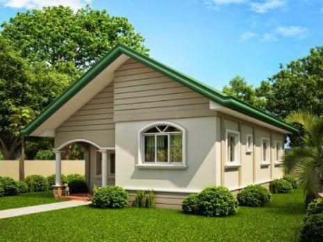 Kiến trúc nhà cấp 4 đẹp với kiểu dáng nhỏ xinh -> Mẫu 6