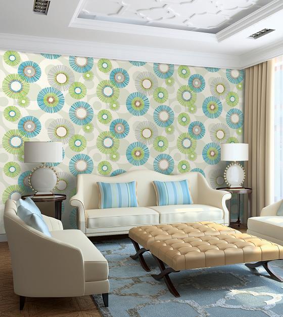 Mẫu giấy gian tường phòng khách đẹp - Thiết kế 11