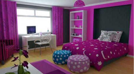 Mẫu phòng ngủ màu hồng sang trọng hiện đại H4