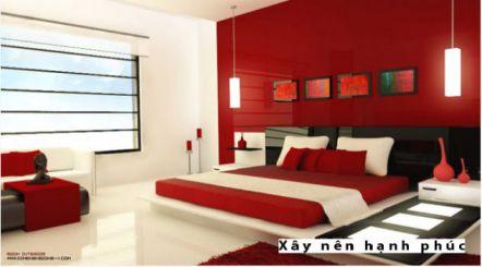 Phòng ngủ đẹp với gam màu rực rỡ H1