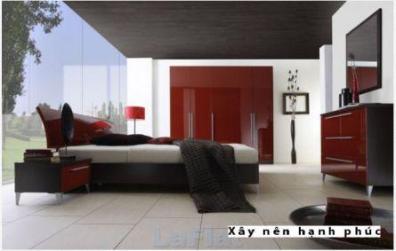 Phòng ngủ đẹp với gam màu rực rỡ H10