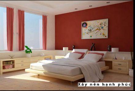 Phòng ngủ đẹp với gam màu rực rỡ H2