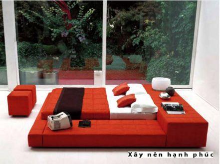 Phòng ngủ đẹp với gam màu rực rỡ H6