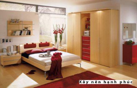 Phòng ngủ đẹp với gam màu rực rỡ H7