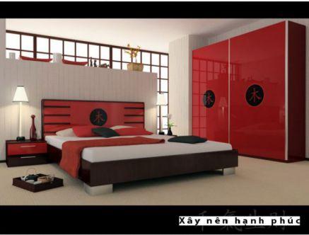 Phòng ngủ đẹp với gam màu rực rỡ H8