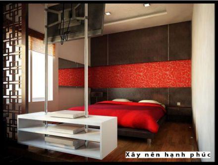 Phòng ngủ đẹp với gam màu rực rỡ H9