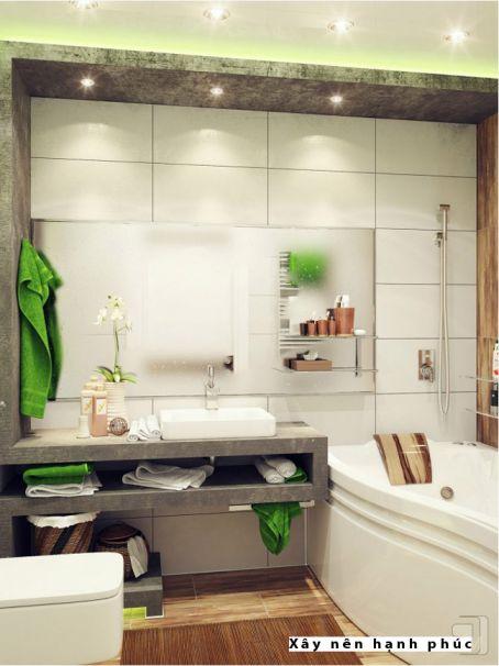 mẫu phòng tắm cho không gian nhỏ thiết kế 1