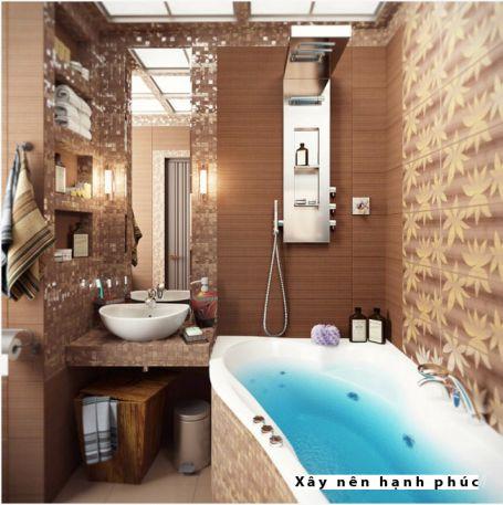 mẫu phòng tắm cho không gian nhỏ thiết kế 5