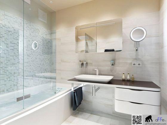 Mẫu phòng tắm hiện đại nhất 24h - Thiết kế mẫu 9