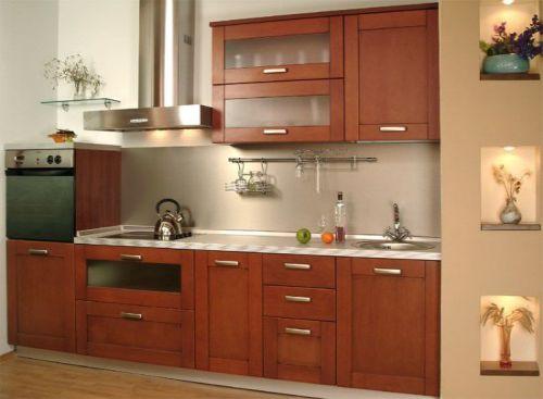 Mẫu tủ bếp xoan đào đẹp hiện đại H3
