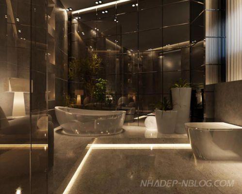 Mẫu phòng tắm đẹp hiện đại H8