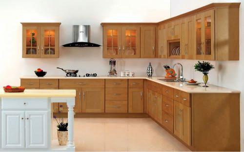 Mẫu tủ bếp xoan đào đẹp hiện đại H6
