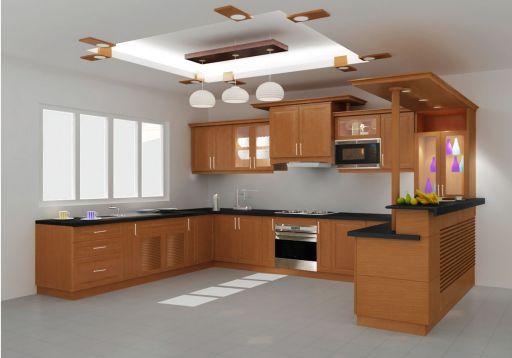 Mẫu tủ bếp xoan đào đẹp hiện đại H7