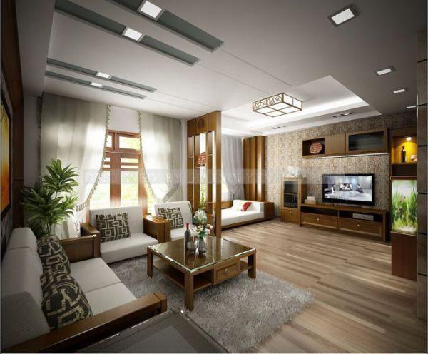 Thiết kế phòng khách sang trọng hiện đại Thiết kế 2