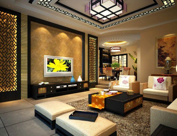 Thiết kế phòng khách sang trọng hiện đại Thiết kế 4