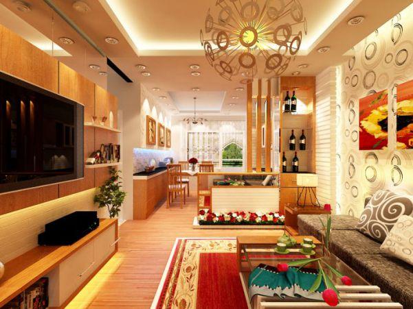 Thiết kế phòng khách sang trọng hiện đại Thiết kế 6
