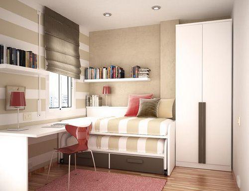 Mẫu nội thất phong ngủ hẹp đẹp - Thiết kế 10