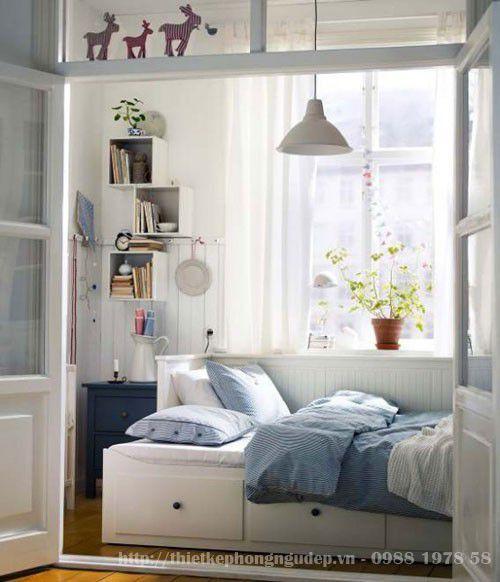 Mẫu nội thất phong ngủ hẹp đẹp - Thiết kế 9