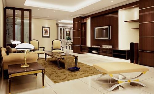 mẫu phòng khách ốp gỗ 2