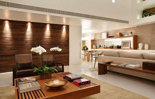 mẫu phòng khách ốp gỗ 3