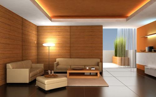 mẫu phòng khách ốp gỗ 4